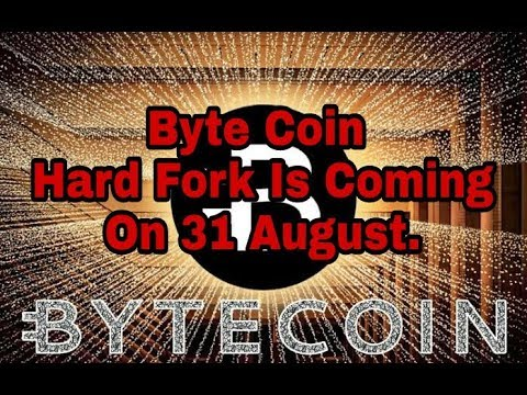 #Byte Coin#Hard Fork#Is Releasing On 31 August.. Bytecoin Price Will Go Up!!