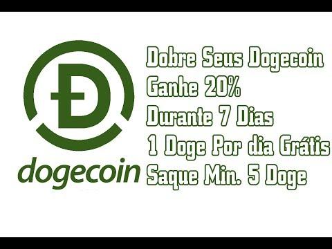 Dobre Seus Dogecoin | Ganhe 20% Durante 7 Dias | 1 Doge Por dia Grátis | Saque Min. 5 Doge
