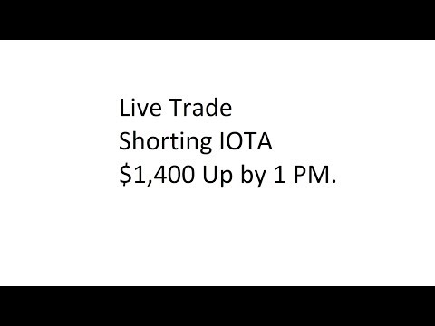 Live Trade – Shorting IOTA – $1,400 Up by 1 PM.