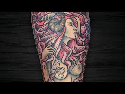 SUCCUBUS | Mulher demônio – Neo Trad – Tatua e Fala | Tattoo Time Lapse #126