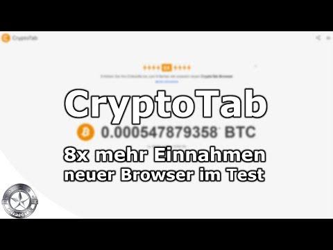 Cryptotab Bitcoin Browser Mining 8x mehr Einnahmen August 2018