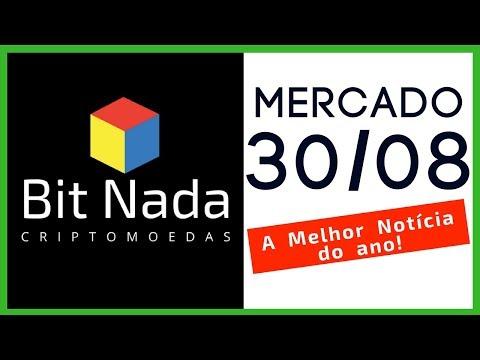 Mercado de Cripto! 30/08 A Melhor Notícia do Ano! / Bitcoin / EOS