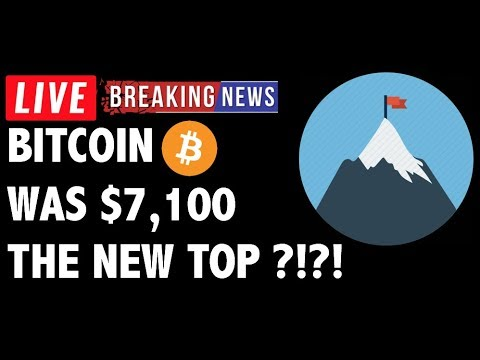 Did Bitcoin (BTC) Hit The Top at 7100?! – Crypto Trading & Cryptocurrency Price News