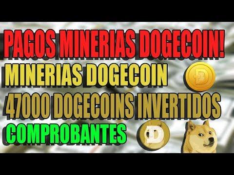 PAGOS MINERIAS DOGECOIN! PAGANDO AL INSTANTE! COMPROBANTES DE PAGO!