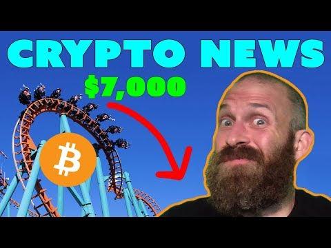 Bitcoin Falls Under $7K | YAHOO! Sells Crypto | $ADA $ZEC $BAT News