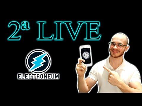 ? 2ª Live do Electroneum – Irei distribuir mais Criptomoedas e responder perguntas! Não perca!