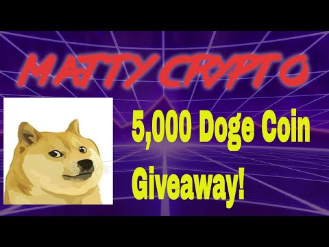 5,000 Doge Coin GIVEAWAY! Thank you for 1,000 Subs!