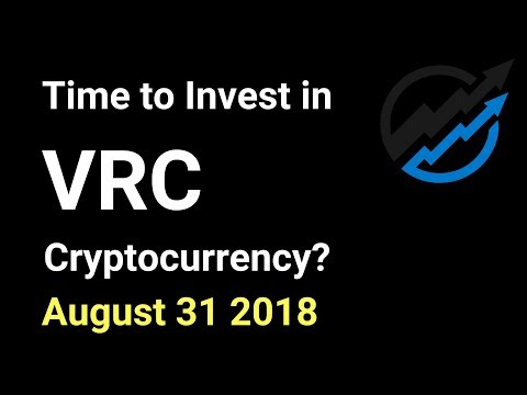 VRC Trading – Time to invest in Vericoin Cryptocurrency? AUG 31/18