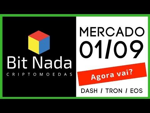 Mercado de Cripto! 01/09 DASH / TRON / EOS / Estudo BTC 96k? /McAfee