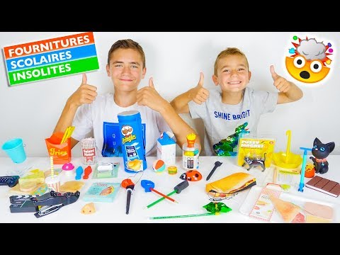 FOURNITURES SCOLAIRES INSOLITES – BACK TO SCHOOL 2018