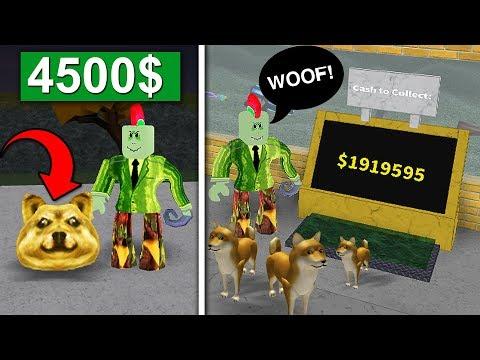 EEN HOND VAN 4500$! (Roblox Doge Tycoon)