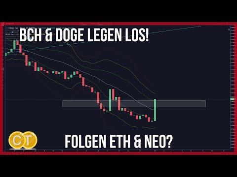 Bitcoin bricht 7100 🚀BCH & Doge heben ab und ETH NEO könnten folgen