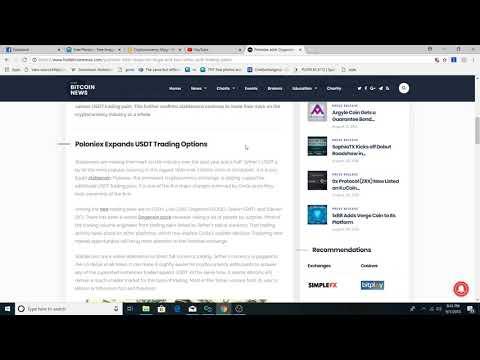 Dogecoin, LISK, Zrx,Golem, Siacoin get USDT trading pairs at Poloniex