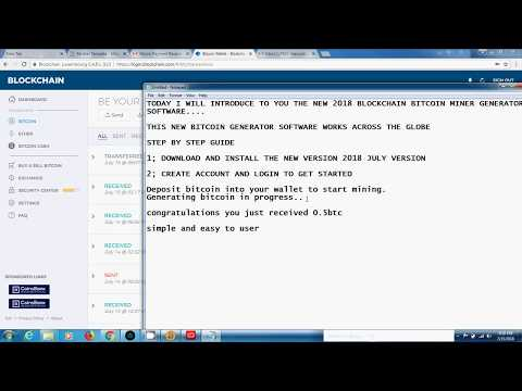 Bitcoin Mining Software 2018 – Get free 0.5 Bitcoin With Our Bitcoin Generator, Latest Bitcoin Hack