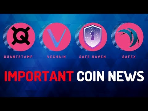 Big Moves from Quantstamp, Safe Haven, Safex and VeChain – Today's Crypto News