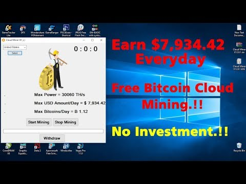 Free Cloud Bitcoin Mining|Earn $ 7,934 In A Day|Cloud Miner V12.0.1|Fastest Mining|No Investment
