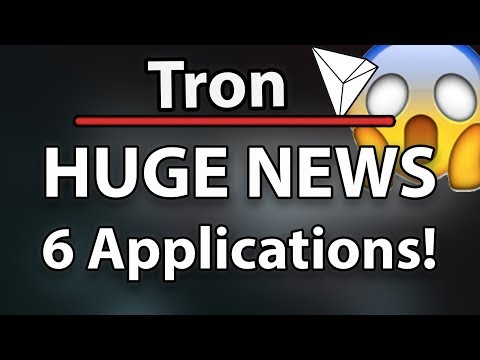 Tron (TRX) Huge News! 6 Applications & Tron Catching Up To ETH!