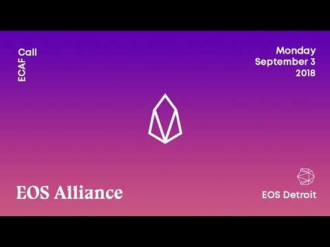 EOS Alliance ECAF call September 3, 2018