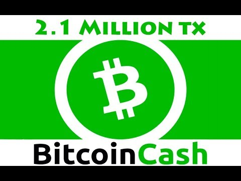 Bitcoin Cash Processes 2.1 Million Transactions – Daily Bitcoin and Cryptocurrency News