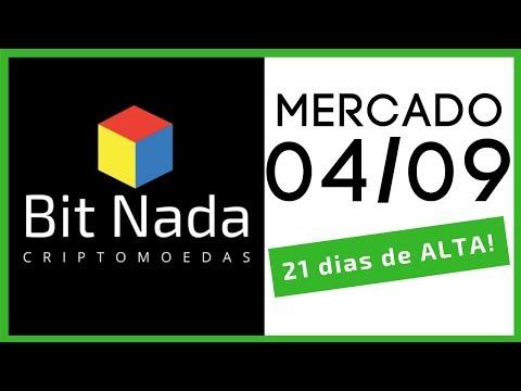 Mercado de Cripto! 04/09 Bitcoin 21 dias de ALTA! / XVG / Silk Road / Bittrex