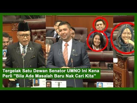 "Tergelak Satu Dewan Senator UMNO Ini Kena Perli ""Bila Ada Masalah Baru Nak Cari Kita"""