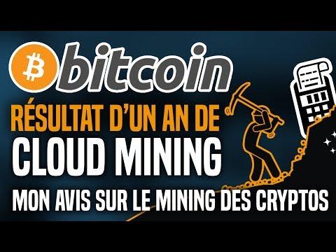 Bitcoin : résultat d'1 an de cloud mining et mon avis sur le mining des cryptos !