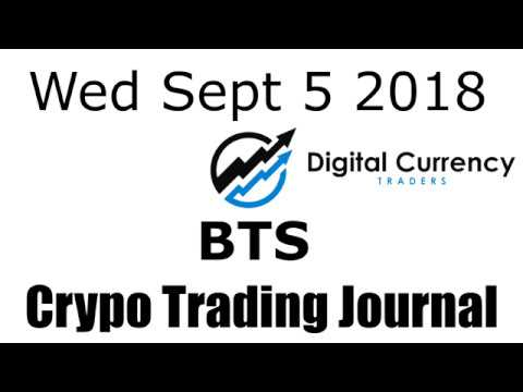 Bitshares Crypto Trading Journal Video – Sept 5 2018