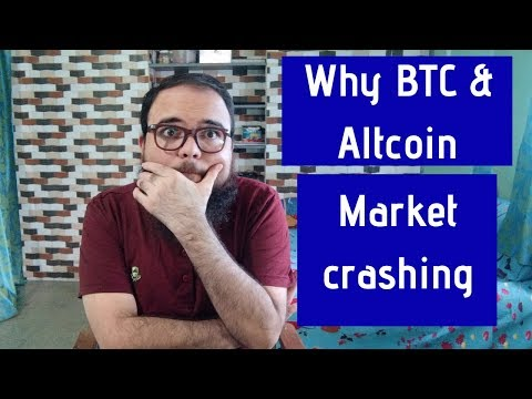 BITCOIN FALLING!! Cryptocurrency crash ! Reasons for BTC Crashing.