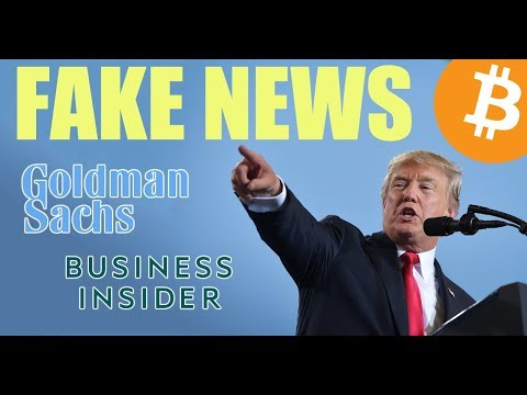 Goldman Sachs Confirms FAKE NEWS from Business Insider – Daily Bitcoin and Cryptocurrency News