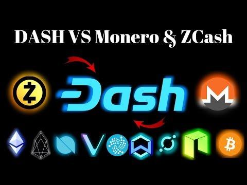 Dash Review – (Dash VS Monero & ZCash)