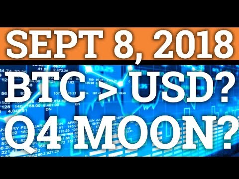 BITCOIN REPLACING THE DOLLAR? CRYPTOCURRENCY MOONING IN Q4? | ETHEREUM + BTC DAY TRADING + NEWS 2018