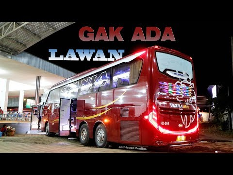 TAK ADA LAWAN !!! Naik Scania K410 nya Agra Mas Maroon Ciledug-Solo Part 2