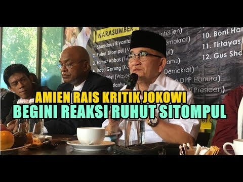 AMIEN RAIS SEBUT ADA DAJJ4L DIBELAKANG JOKOWI, BEGINI REAKSI RUHUT SITOMPUL!