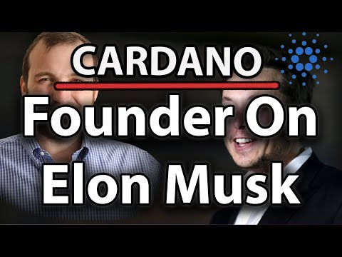 Cardano (ADA) Founder On Elon Musk, Readable Adresses & Price Decline!