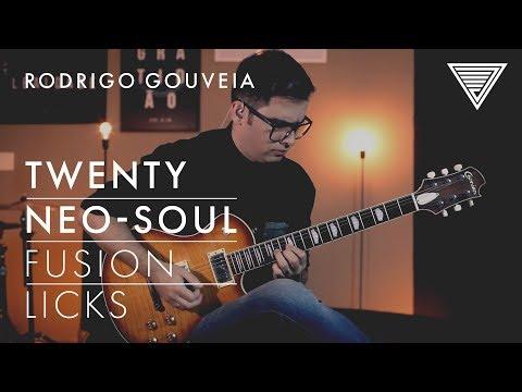 *New Artist* Rodrigo Gouveia's 20 Neo-Soul Fusion Licks   JTC Guitar