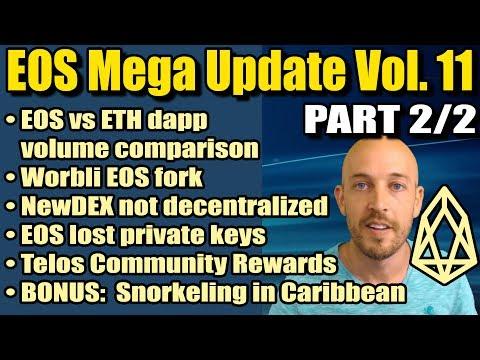 EOS Mega Update Vol 11 (PART 2) – EOS vs ETH dapp volume, Worbli, Lost EOS private keys, Snorkeling!