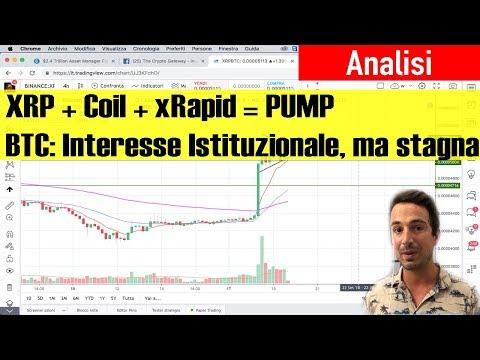 Ripple Pump: Come mai? Coil e xRapid | Bitcoin – Operatività su Range