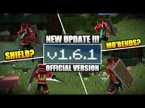 NEW UPDATE !!! MCPE V 1.6.1.0 OFFICIAL – AKHIRNYA !!! ADA MO'BENDS/SHIELD KAH???