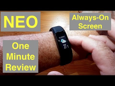 "WeLoop NEO IP68 3ATM Waterproof GPS ""Always On"" Screen Sports Fitness Smartband: Quick Overview"