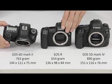 Vormfactor | EOS R t.o.v. EOS 6D mark II en EOS 5D mark IV