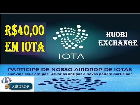 HUOBI FAZ NOVO AIRDROP DA CRIPTOMOEDA IOTA GANHE R$40 OU MAIS DE FORMA GRÁTIS E FÁCIL