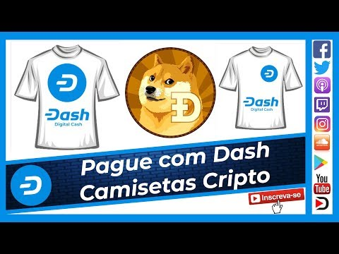 Compre com Dash – Comunidade Dogecoin Brasil aceita criptomoedas como pagamento de Camisetas