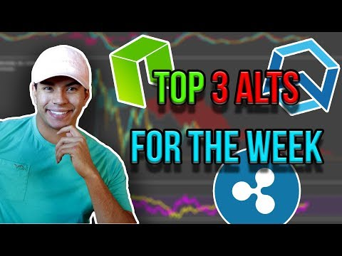 My top 3 Altcoin picks for the week / BTC, NEO, XRP, WAN Technical Analysis