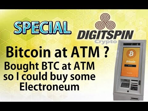 $BTC #Bitcoin from an ATM  so I could Buy $ETN #Electroneum #CryptoNews