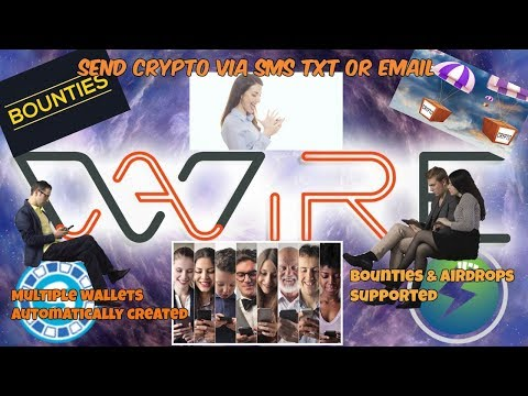AirWire Send Cryptocurrency Via Text, Email, Social Media, & The Platform