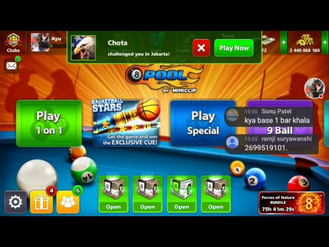 OMG 💣 FREE COIN 💟LIKE N SUBSCRIBE  ID 1322723608 Streaming 8 Ball Pool