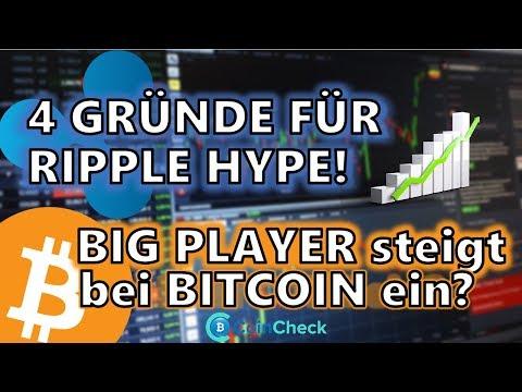 Einstieg von Big Player für Bitcoin Bullrun? 4 Gründe für den Ripple Hype!  Krypto News 24.09.2018