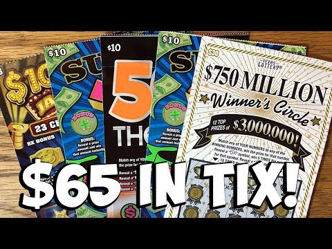 $65 in TIX! $750 Million Winner's Circle, 50X The Cash + MORE ✦ TEXAS LOTTERY Scratch Off Tickets