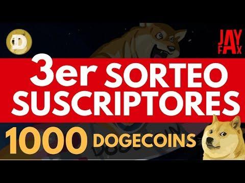 SORTEO DE 1000 DOGECOINS PARA SUSCRIPTORES | JAYFX-DOGECOIN-DOGECOIN GRATIS-DINERO FACIL-BTC