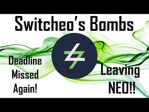 Switcheo's Bombs: Deadline Missed Again! Leaving $NEO to build own chain ??